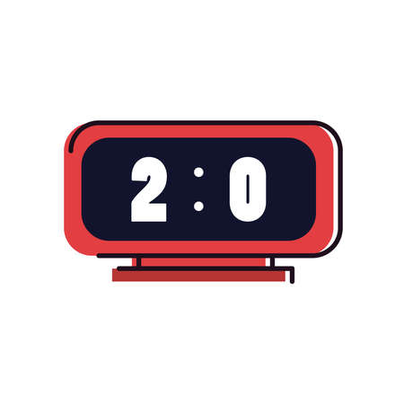 score board two cero line and fill style icon design, Soccer football sport hobby competition and game theme Vector illustration