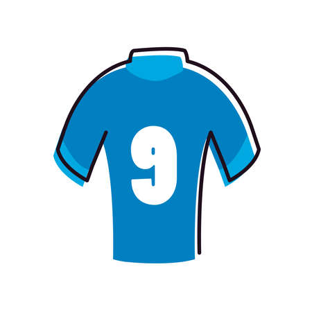 tshirt line and fill style icon design, Soccer football sport hobby competition and game theme Vector illustration Stock Illustratie