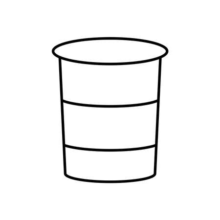 yogurt cup icon over white background, line style, vector illustration Illustration