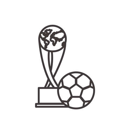 ball line style icon design, Soccer football sport hobby competition and game theme Vector illustration