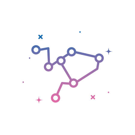 stars constellation gradient style icon of Space futuristic cosmos and universe theme Vector illustration