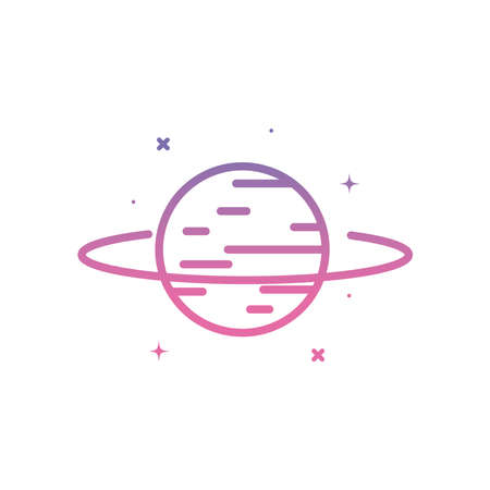 planet gradient style icon of Space futuristic cosmos and universe theme Vector illustration Ilustracja