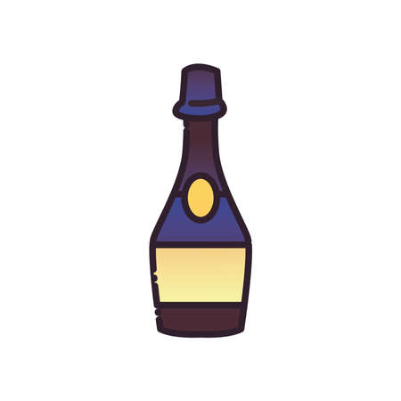 alcohol bottle fill and gradient style icon design, drink bar and beverage theme Vector illustration