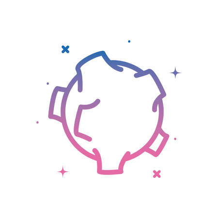 asteroid gradient style icon of Space futuristic cosmos and universe theme Vector illustration
