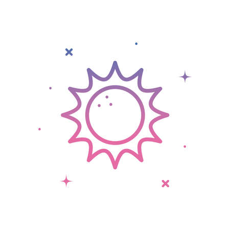 Sun gradient style icon design, summer nature tropical season holiday sunny weather and energy theme Vector illustration Ilustracja