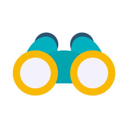 binoculars icon over white background, flat style, vector illustration Illustration