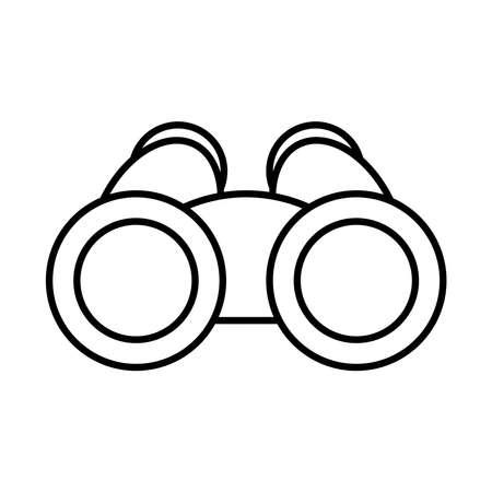 binoculars icon over white background, line style, vector illustration Illustration