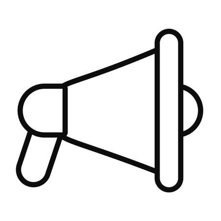 megaphone device icon over white background, line style, vector illustration 向量圖像