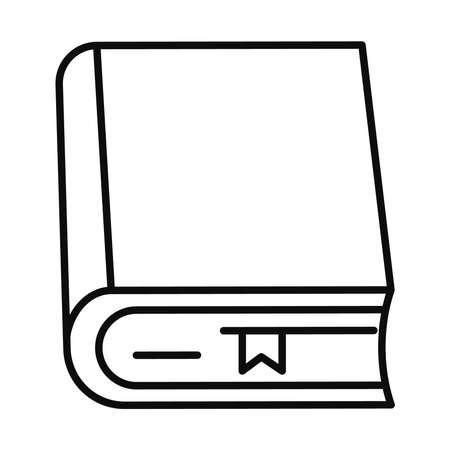 book line style icon design, Education literature and read theme Vector illustration