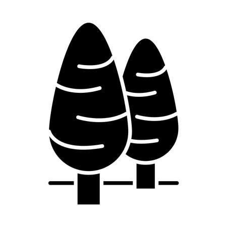 cone shaped trees silhouette style icon design, Nature plant season environment natural and ecology theme Vector illustration Ilustrace