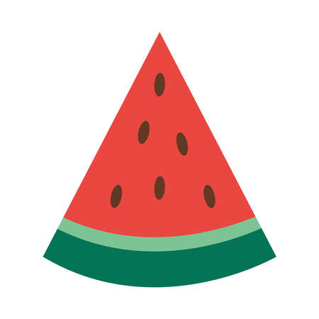 watermelon fruit icon over white background, flat style, vector illustration