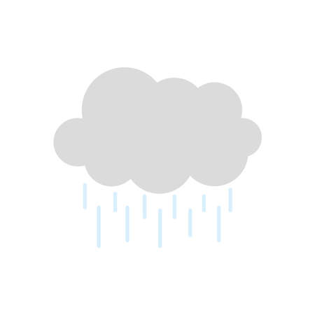 weather concept, cloud with raindrops over white background, flat style, vector illustration Illusztráció
