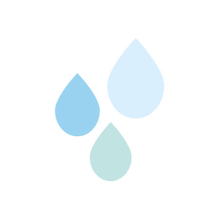 water drops icon over white background, flat style, vector illustration Illusztráció