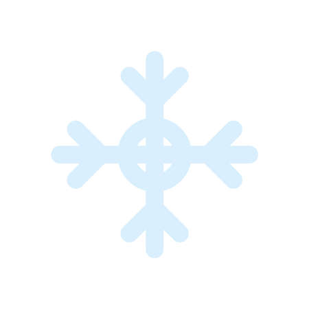winter snowflake icon over white background, flat style, vector illustration