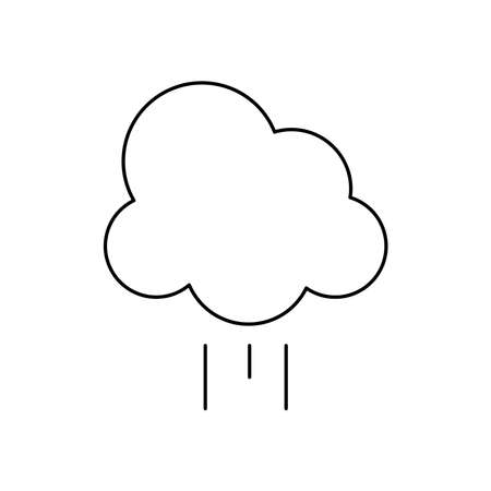 cloud icon over white background, line style, vector illustration