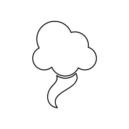 weather concept, tornado cloud icon over white background, line style, vector illustration