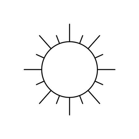 weather concept, sun icon over white background, line style, vector illustration