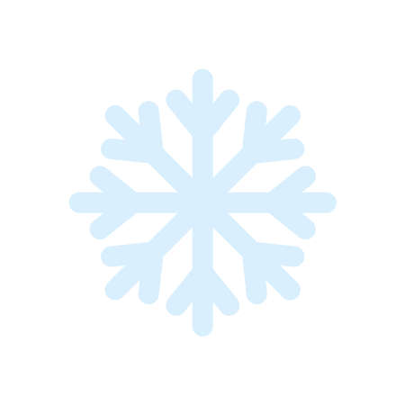 weather concept, snowflake icon over white background, flat style, vector illustration
