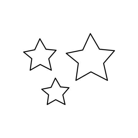 stars icon over white background, line style, vector illustration