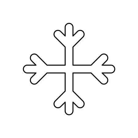 weather concept, snowflake icon over white background, line style, vector illustration