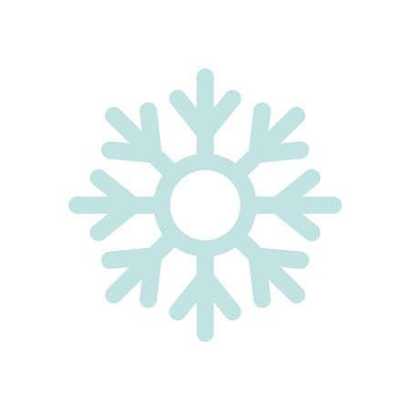 snowflake icon over white background, flat style, vector illustration Çizim