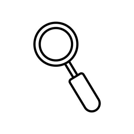 magnifying glass icon over white background, line style, vector illustration