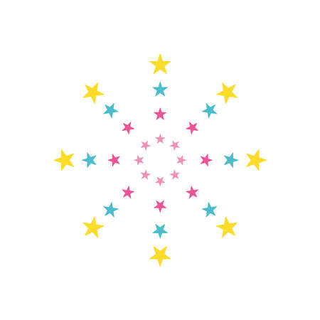stars fireworks burst icon over white background, flat style, vector illustration 向量圖像