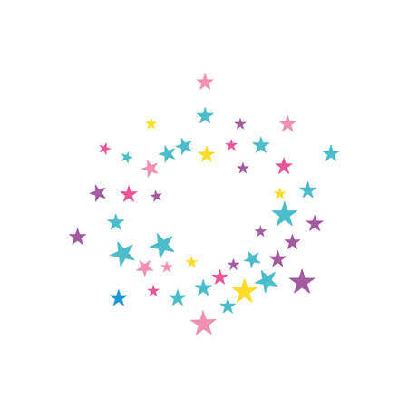 decorative stars icon over white background, flat style, vector illustration