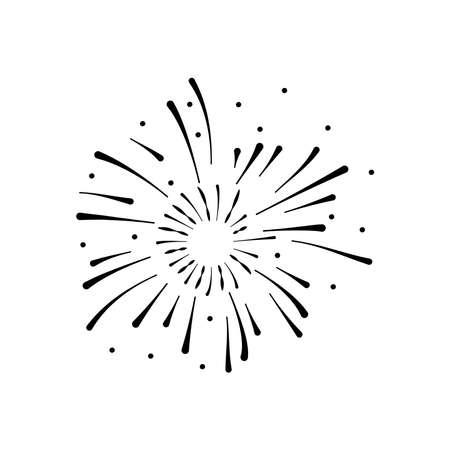 firework burst icon, silhouette style, vector illustration