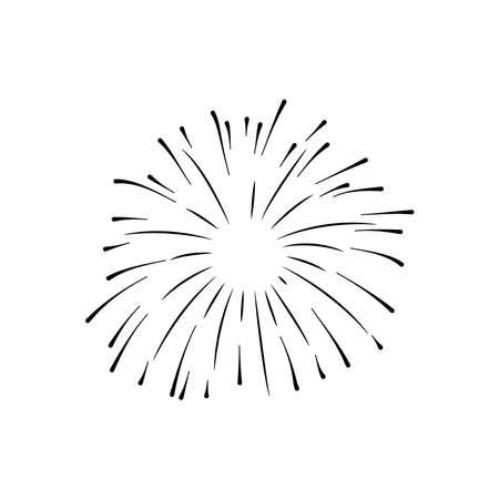 firework explosion icon, silhouette style, vector illustration 向量圖像