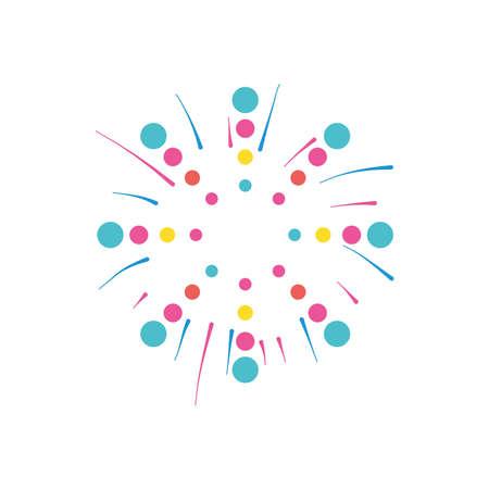 circles fireworks burst icon over white background, flat style, vector illustration 向量圖像