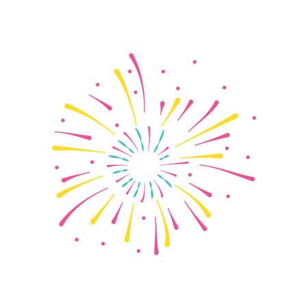 firework burst icon, flat style, vector illustration