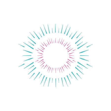 circle firework burst icon over white background, flat style, vector illustration