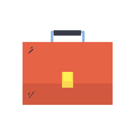 Suitcase bag line and fill style icon design, Case office school university travel baggage luggage handle leather and trip theme Vector illustration Ilustracje wektorowe