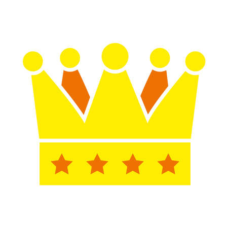 crown icon over white background, flat style, vector illustration Vettoriali