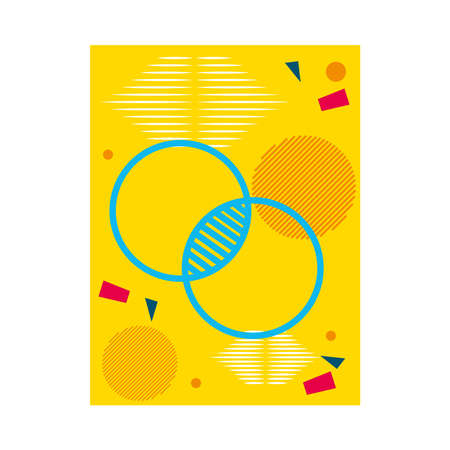 yellow abstract background with circular shapes over white background, colorful design, vector illustration 일러스트