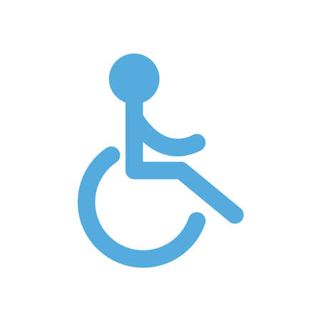 wheelchair parking road sign flat style icon design, Park and transportation theme Vector illustration
