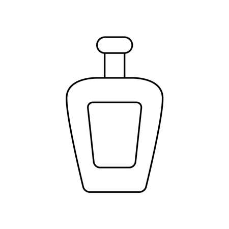 tequila bottle icon over white background, line style, vector illustration