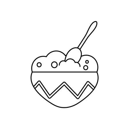 guacamole bowl icon over white background, line style, vector illustration Vektorgrafik
