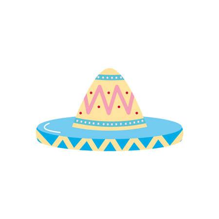 mexican hat icon over white background, flat style, vector illustration Vektorgrafik