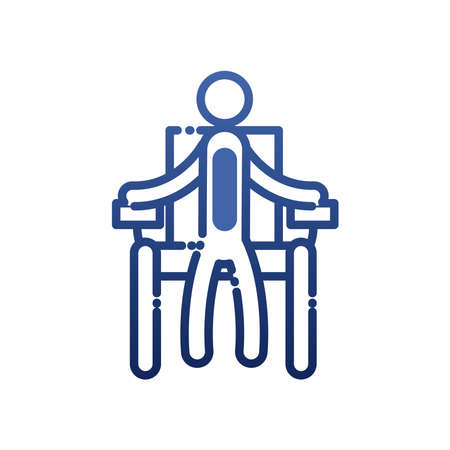 man on wheelchair gradient style icon of Handicapped disability and medical theme Vector illustration