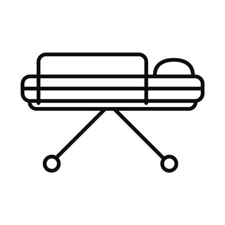 stretcher icon over white background, line style, vector illustration Vector Illustration