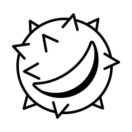autumn chestnut icon over white background, line style, vector illustration Ilustração