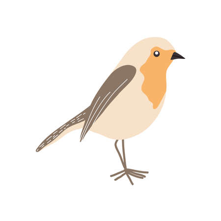 exotic bird icon over white background, flat style, vector illustration  イラスト・ベクター素材