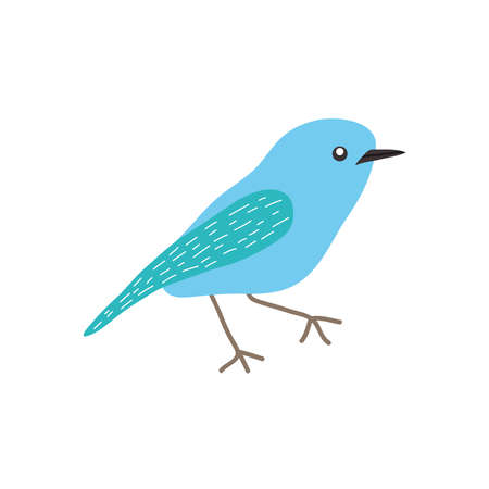 little bird icon over white background, flat style, vector illustration