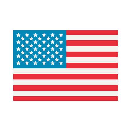usa flag icon over white background,flat style, vector illustration