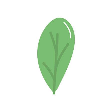 leaf icon over white background, flat style, vector illustration Illusztráció