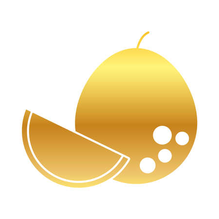 pomelo fruit icon over white background, gradient style, vector illustration