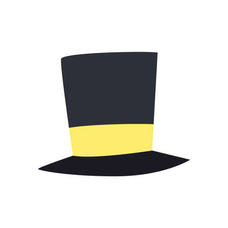 Hat free form style icon design, Cloth costume accessory decoration uniform object season and traditional theme Vector illustration