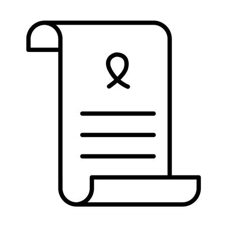 peace treaty icon over white background, line style, vector illustration 矢量图像